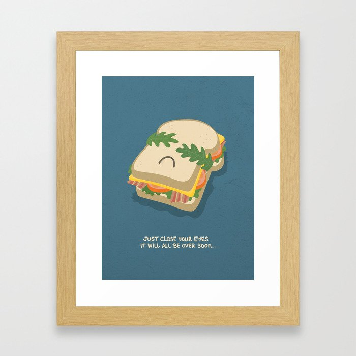 Snack being Attacked Framed Art Print