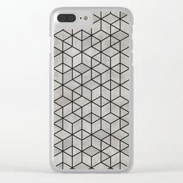 Random Concrete Cubes Clear iPhone Case
