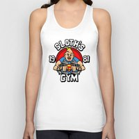 gym Tank Tops featuring Sloth's gym by Buby87