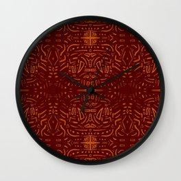 Rojizo abstracto Wall Clock