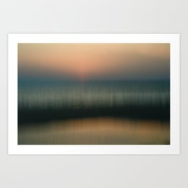 Subtle Strands of Sunset Art Print