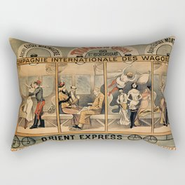 1896 Orient Express musical revue Paris Rectangular Pillow