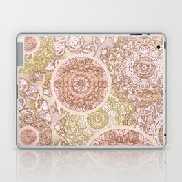 Rosey Gold Mandalas Laptop & iPad Skin