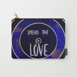 Spread the Love, Sapphire Rippled Marble Design Carry-All Pouch
