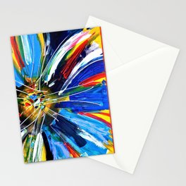 Dutch Spin - Colorful abstract painting flower Stationery Cards