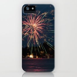 Fireworks Over Lake 35 iPhone Case