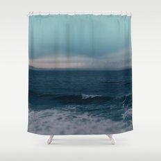 Blue California Ocean Shower Curtain