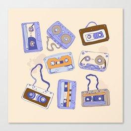 Audio cassette Canvas Print