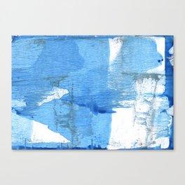 Corn flower blue hand-drawn wash drawing paper Canvas Print