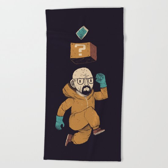 heisenberg power up Beach Towel