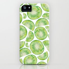 Watercolour Kiwi Fruit iPhone Case