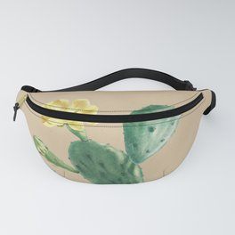 Green Cacti with Tan Background - Botanical Cactus Fanny Pack
