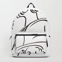 Retro portrait of man Backpack