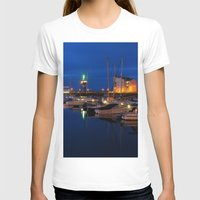 marina T-shirts featuring Ardrossan Marina by Paul & Fe Photography