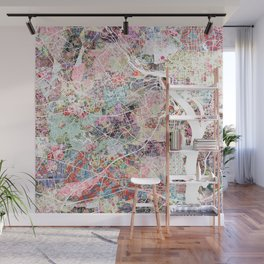 Arlington map Virginia Wall Mural