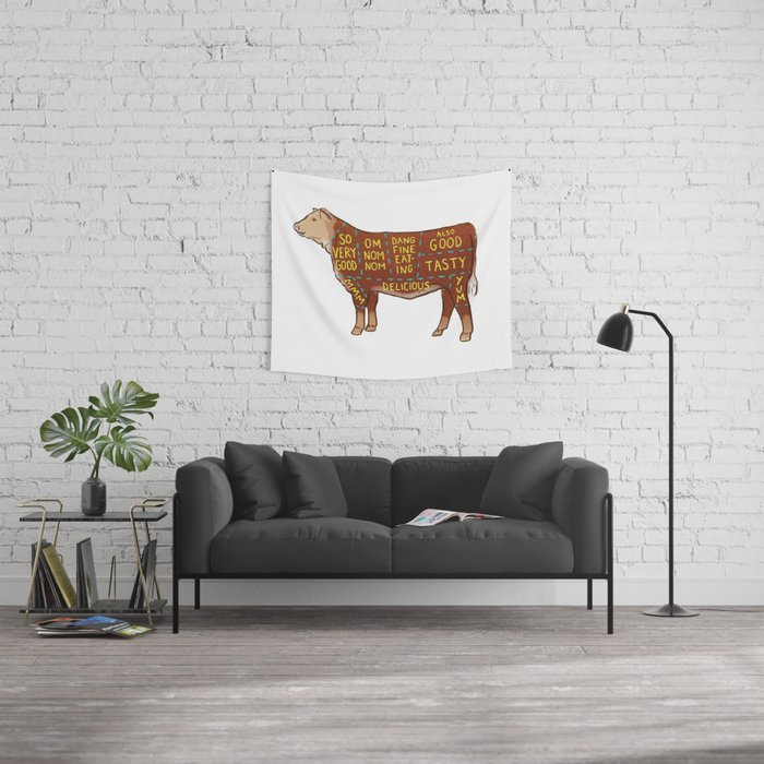 Cow Cuts Wall Tapestry