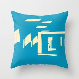 Diagonal light passage Throw Pillow