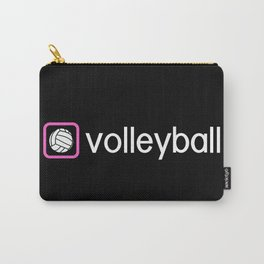 Volleyball (Pink) Carry-All Pouch