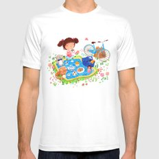 Picnic Mens Fitted Tee White SMALL