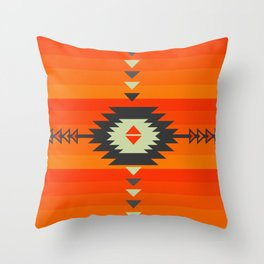 Southwestern in orange and red Throw Pillow