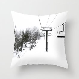 Into the White Throw Pillow