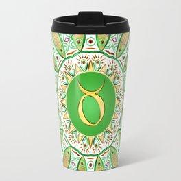 Zodiac Sign Taurus Mandala Travel Mug