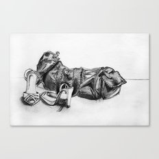 hand drawn shoes Canvas Print