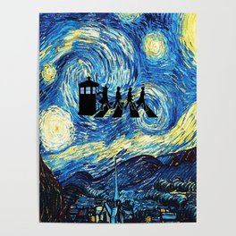 The Doctors Walking Of Starry Night Poster