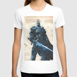 Arthas Lich King wow da vinci style sketch T-shirt