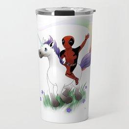 Dead Pool on a Unicorn Travel Mug