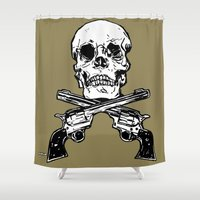 kindle Shower Curtains featuring 113 by ALLSKULL.NET
