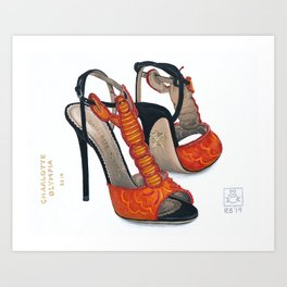 Charlotte Olympia's Lobster Shoe Painting Art Print