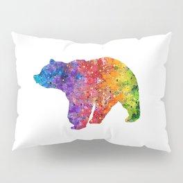 Bear Art Colorful Watercolor Art Gift Animals Art Wildlife Nature Gift Pillow Sham