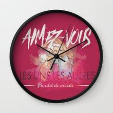 Aimez-vous Wall Clock