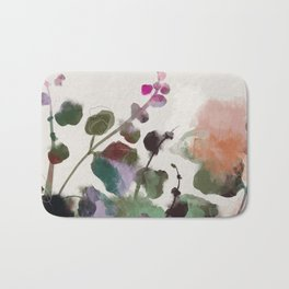 floral abstract summer autumn Bath Mat