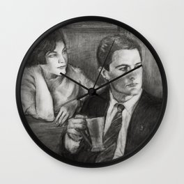 TWIN PEAKS - COOPER AND AUDREY Wall Clock