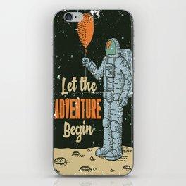 Let the Adventure begin iPhone Skin