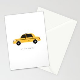 New York City, NYC Yellow Taxi Cab Stationery Cards