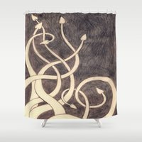 kraken Shower Curtains featuring Kraken by cepheart
