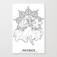 physics Canvas Prints featuring Physics by Verdant Winter