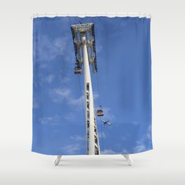 Emirates Cable Car And British Airways Shower Curtain