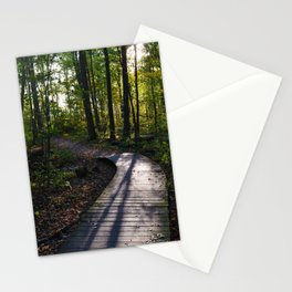 Boardwalk through the forest in southern Ontario Stationery Cards
