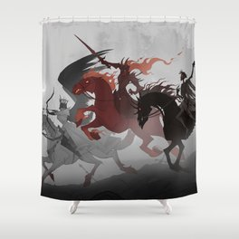 Four Horsemen of the Apocalypse Shower Curtain