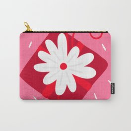 Valentine's Day Contemporary Flower Art Carry-All Pouch