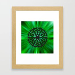 Celtic Knot Star Flower Framed Art Print