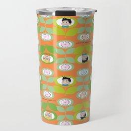 mabo & jimmy garden orange 2 Travel Mug
