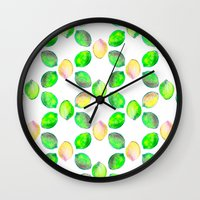 lime Wall Clocks featuring lime by ingrid chow