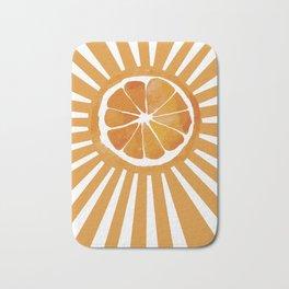 Sunset orange Bath Mat