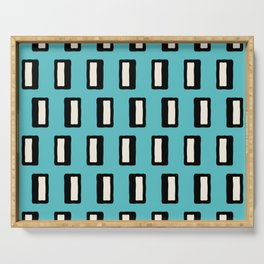 Chad Pattern Turquoise 2 Serving Tray
