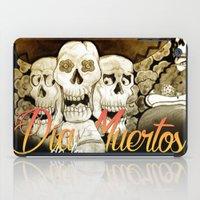 dia de los muertos iPad Cases featuring Dia de los muertos by mrgarnica